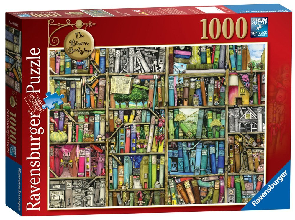 Ravensburger - The Bizarre Bookshop Puzzle 1000pc - Colin Thompson
