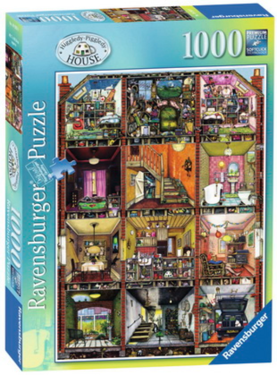 Ravensburger - Higgledy Piggledy House Puzzle 1000pc - Colin Thompson