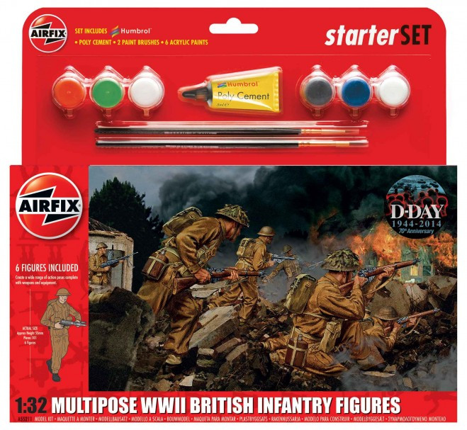 Airfix WWII British Infanftry Multipose Gift Set