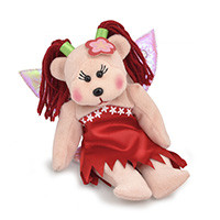 Beanie Kids Primrose the Rose Fairy Bear