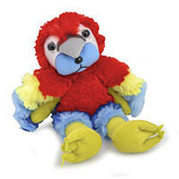Beanie Kids Feathers the Macaw Bear