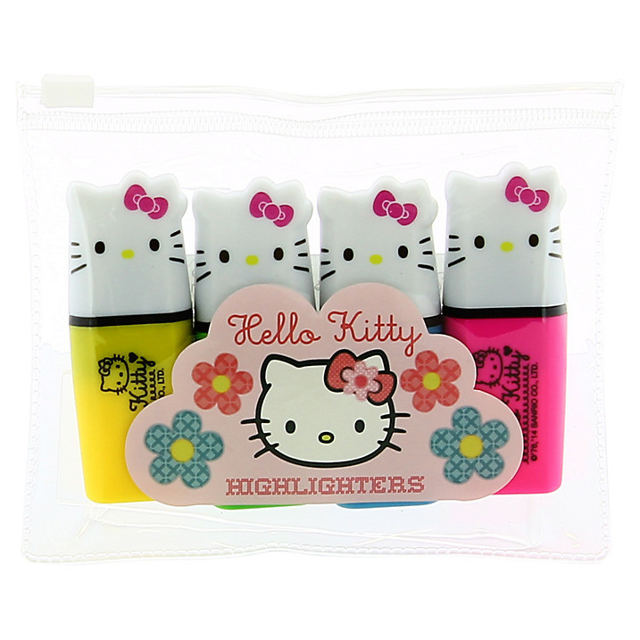 Hello Kitty Home Sweet Home Highlighters 4pk
