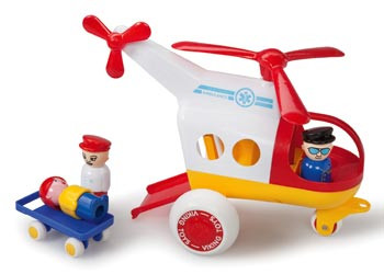 Viking Toys Ambulance Helicopter with 3 Figures