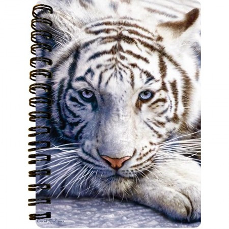 3D LiveLife Jotter A6 Notepad - White Tiger Repose