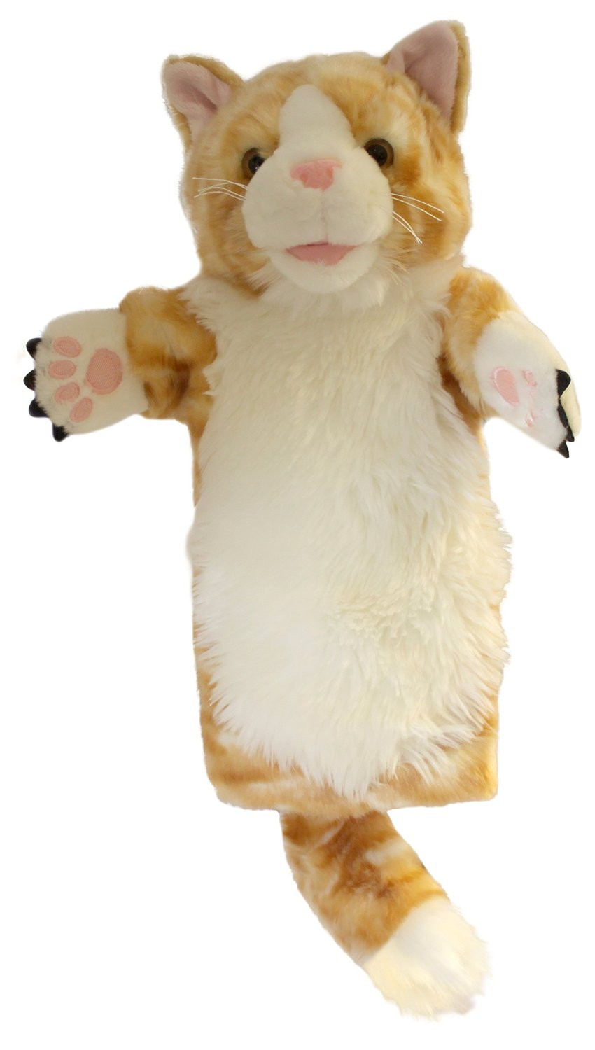 The Puppet Company Ginger Cat Long Sleeved Glove Puppet