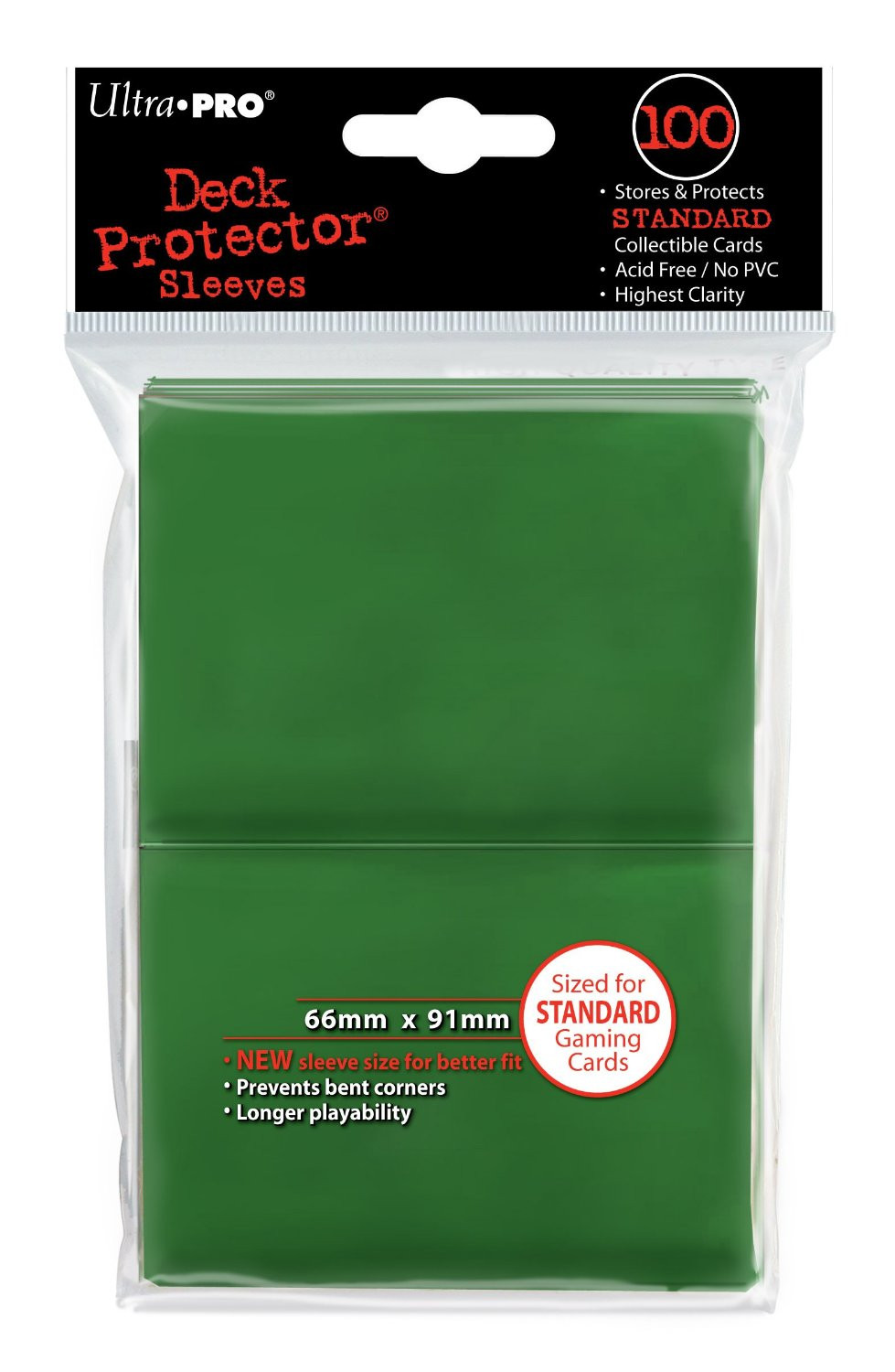 Ultra Pro Deck Protector Sleeves Standard Green 100pk