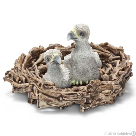 SC14635 Schleich Baby Eagles In Nest