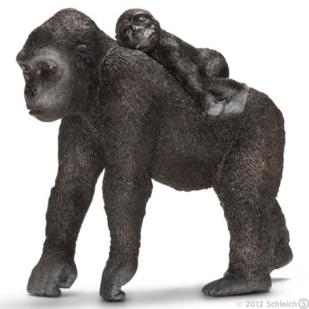 SC14662 Schleich Gorilla Female With Baby
