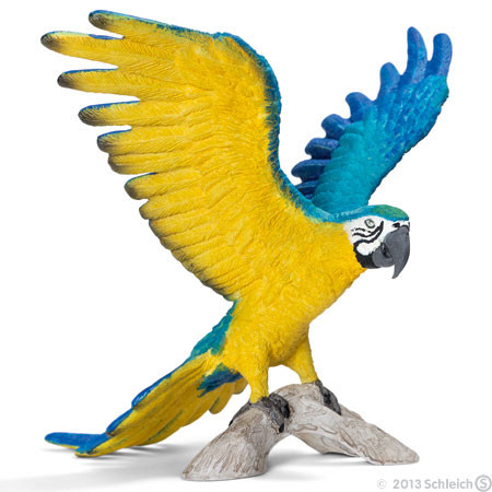 SC14690 Schleich Blue And Yellow Macaw