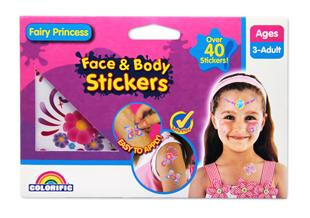 Face & Body Stickers Assortment (Role Play Fairy Princess Monsters)
