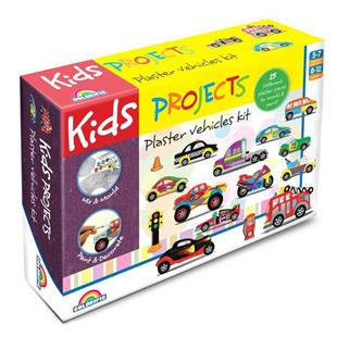Kids Projects Plaster Craft Large Vehicles