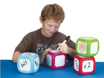 Magnetic Write On Wipe Off Learning Cubes