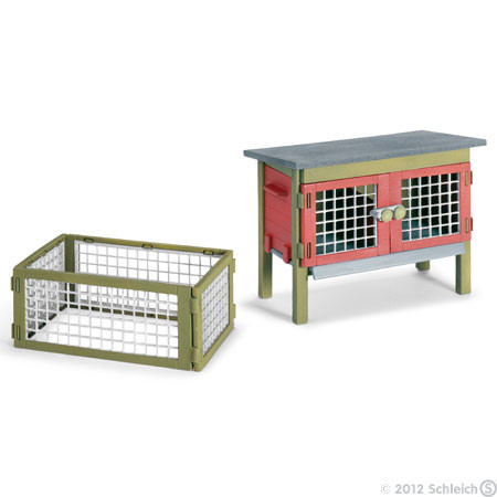 SC42019 Schleich Rabbit Hutch