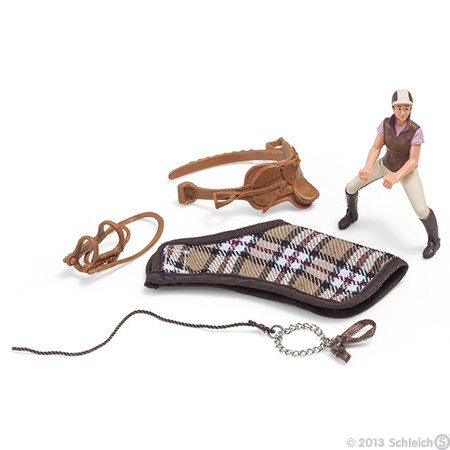 Our young horsewoman loves to ride across the meadows and fields.  If you want to ride off, your Schleich horse only needs to be saddled, and there you go! Where do you want to ride - are you keen on a relaxing ride along the beach or an adventurous gallo