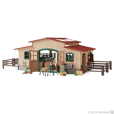 SC42103 Schleich Horse Stable with Accessories