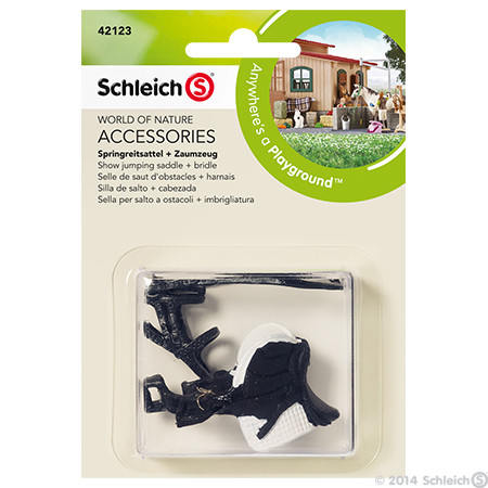SC42123 Schleich Show Jumping Saddle & Bridle