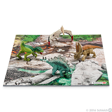 Schleich - Mini Dinosaurs + Discovery Puzzle