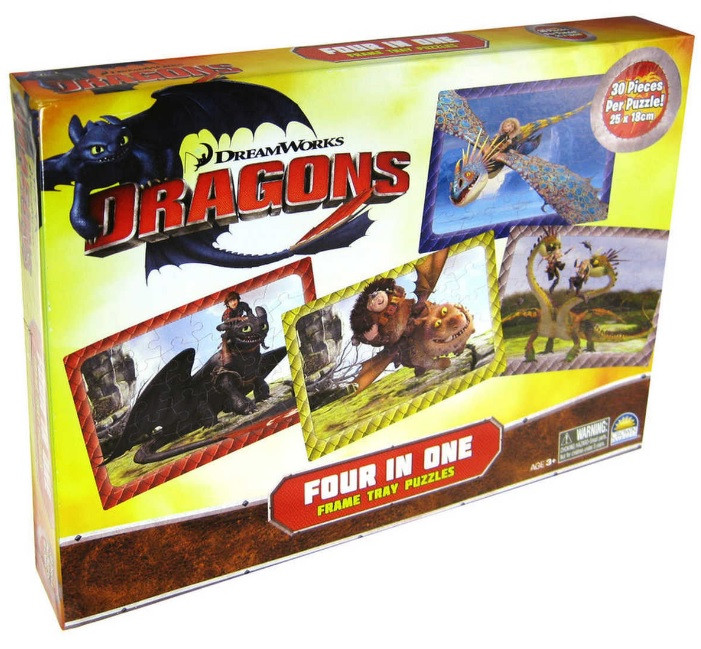 How to Train Your Dragon 4 in 1 Box Puzzle