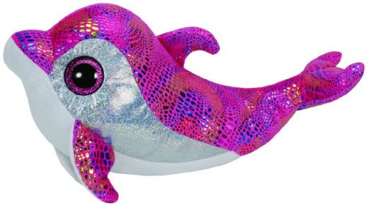 Beanie-Boos-Sparkles-the-Pink-Sparkle-Dolphin-(Medium)