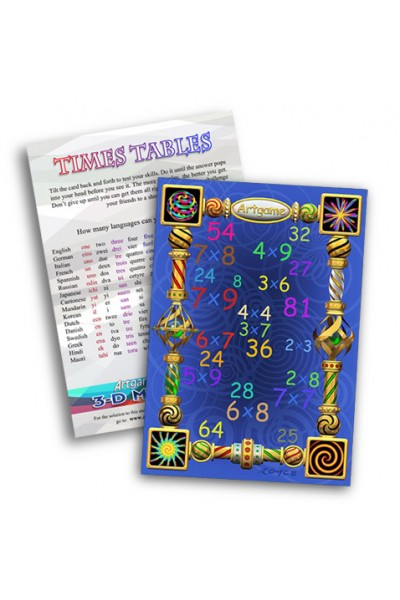 Artgame Times Tables Maze Cards