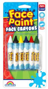 Face Crayons Standard 6 Pack