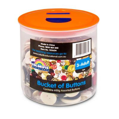 Bucket Of Buttons (Approx. 500gm)