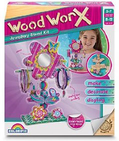 Wood WorX Girls Asst. (Jewellery Stand/Jewellery Box/Mirror Keepsake)