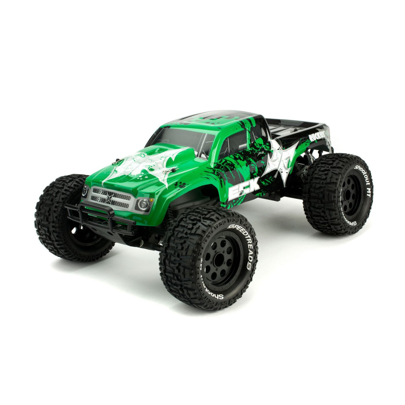 ECX Ruckus 1/10 2wd Monster Truck RTR Green/Black