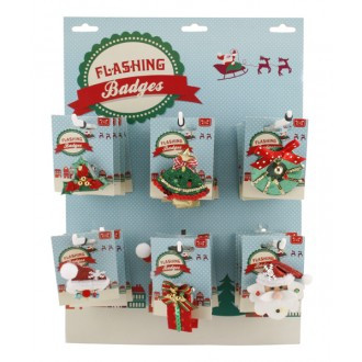 Flashing Christmas Brooches