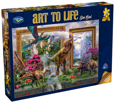 Holdson Art to Life Dino Blend 1000pc Jigsaw Puzzle
