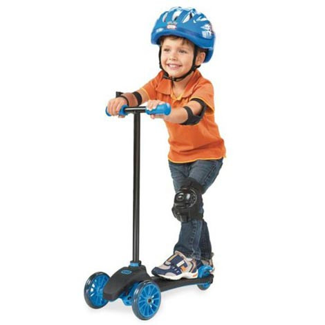 Lean-To-Turn-Scooter-Blue