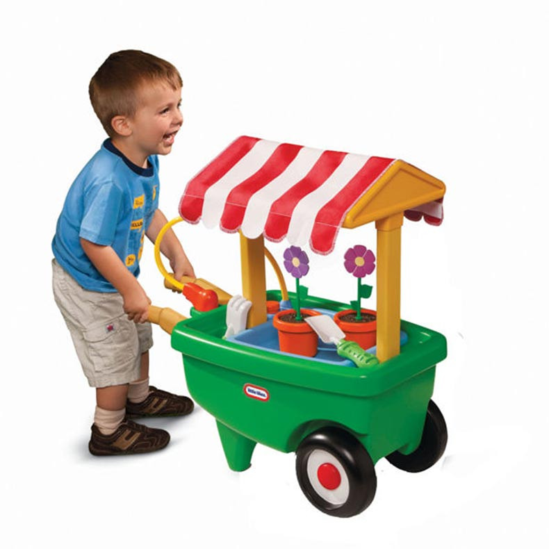 Little Tikes 2 in 1 Garden Cart & Wheelbarrow