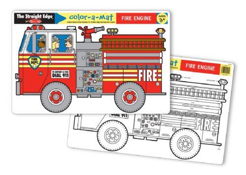 Melissa & Doug - Fire Engine Colour-A-Mat