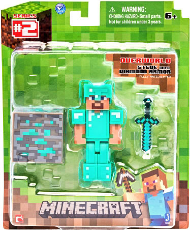 Minecraft Overworld Steve with Diamond Armour