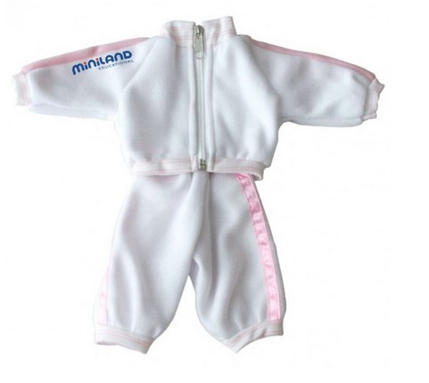 Miniland White/Pink Tracksuit 32cm