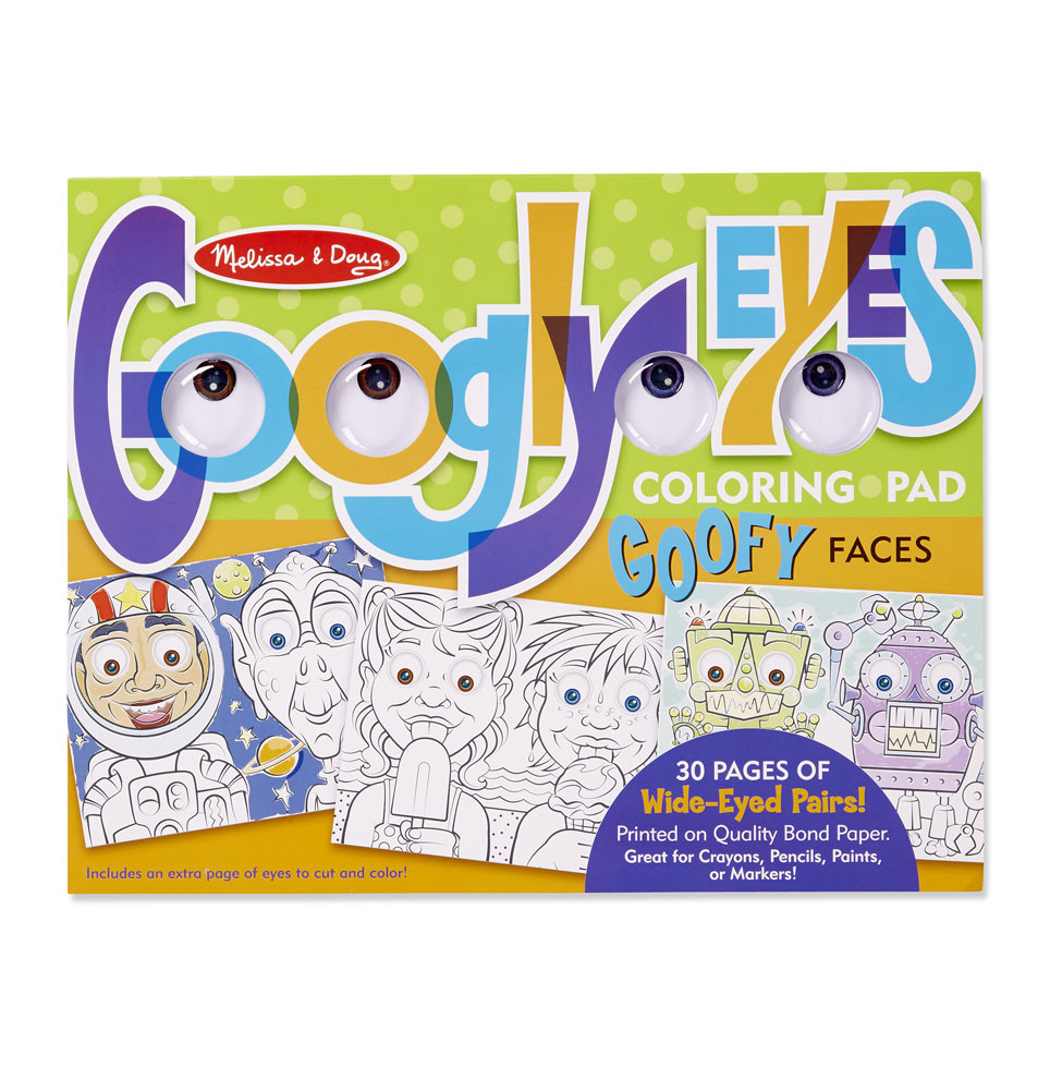 M&D - Googly Eyes Coloring Pad - Goofy Faces