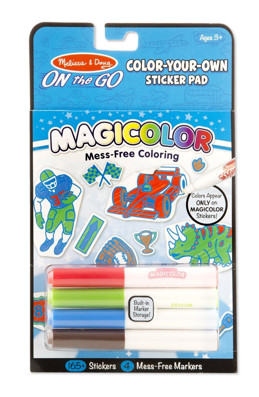 Melissa & Doug - On The Go - Magicolor - Sticker Book - Blue