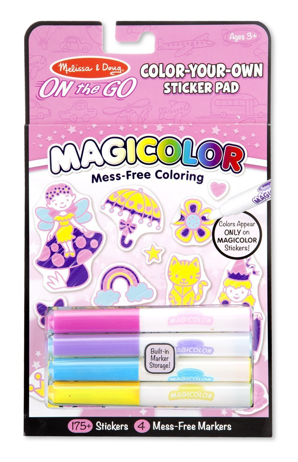Melissa & Doug - On The Go - Magicolor - Sticker Book - Pink