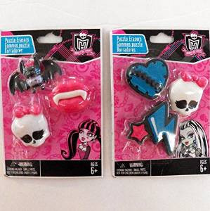 Monster High Puzzle Erasers Set