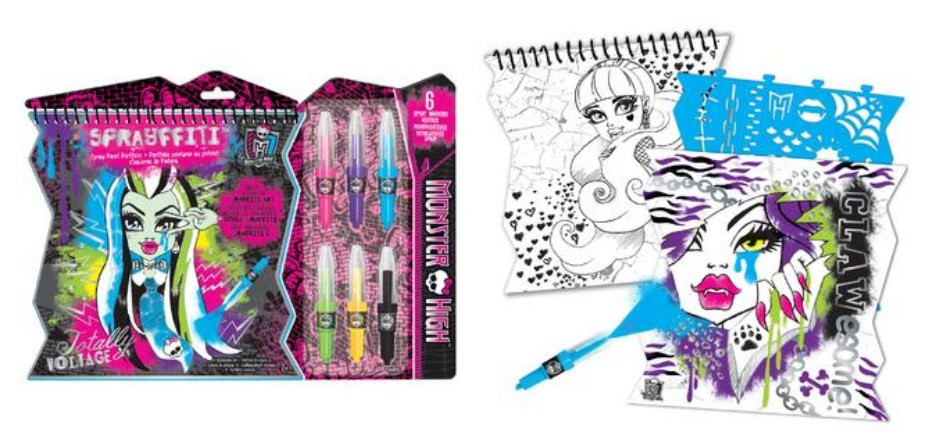 Monster High Sprayffiti Spray Paint Portfolio
