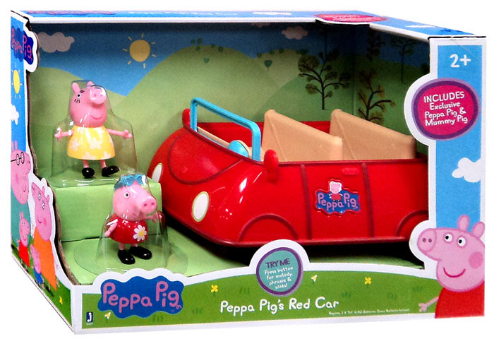Peppas Red Car w Peppa Figure