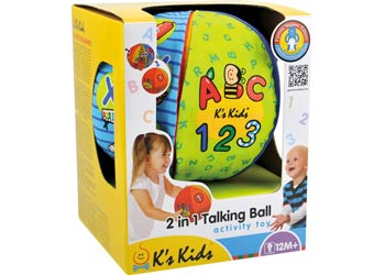Ks Kids - 2 in 1 Talking Ball