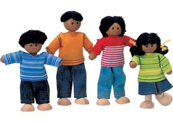 Plan Toys African Doll Family 4pcs