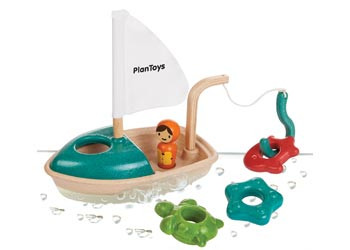 Plan Toys - Activity Fishing Boat