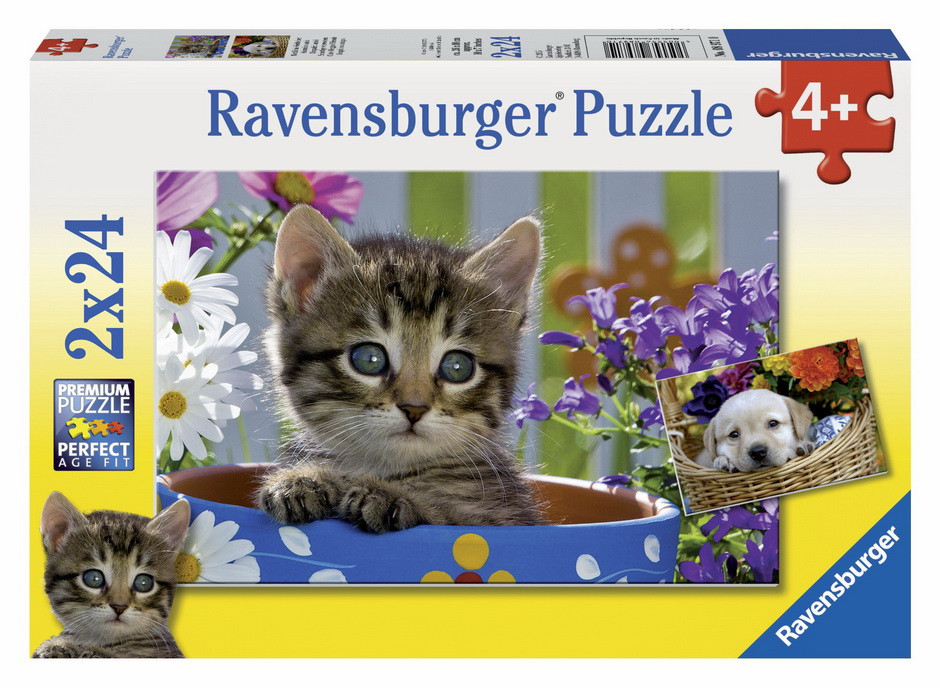 Ravensburger - Dog And Cat Puzzle 2x24pc