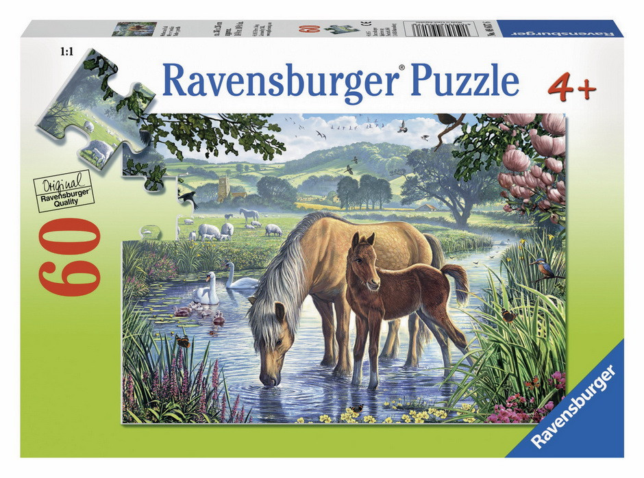 Ravensburger - Mother And Foal Puzzle 60pc