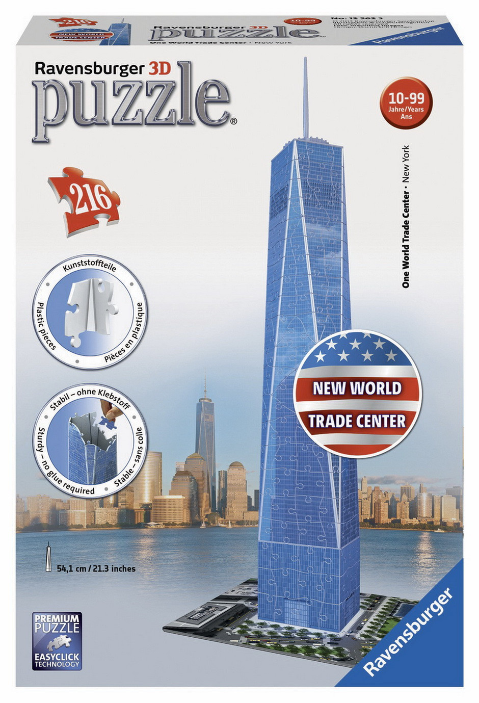 Ravensburger - One World Trade Centre 3D Puzzle 216pc