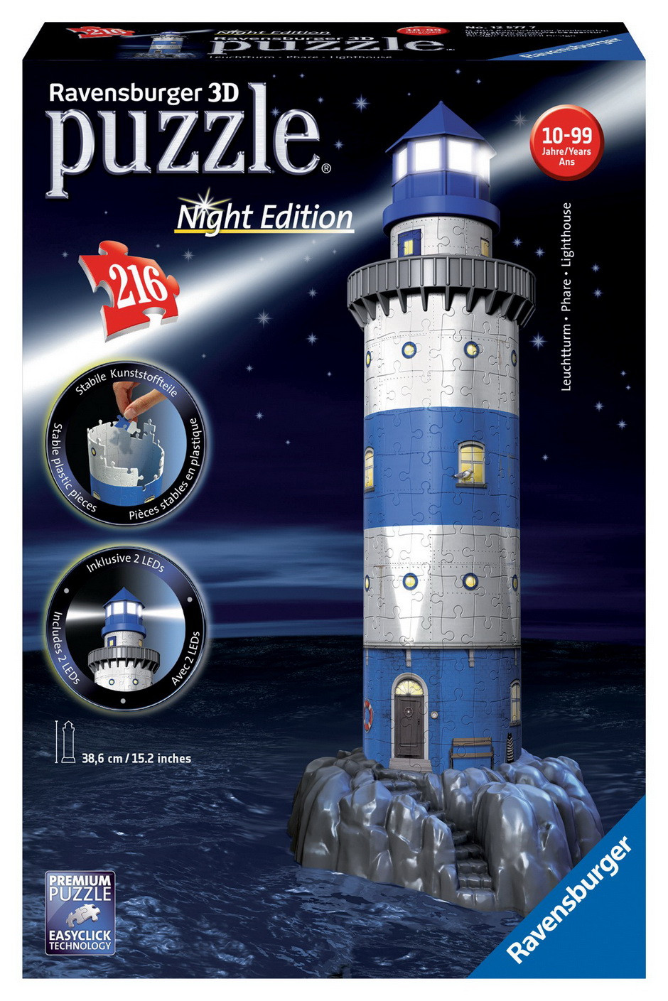 Ravensburger - Lighthouse Night 3D Puzzle 216pc