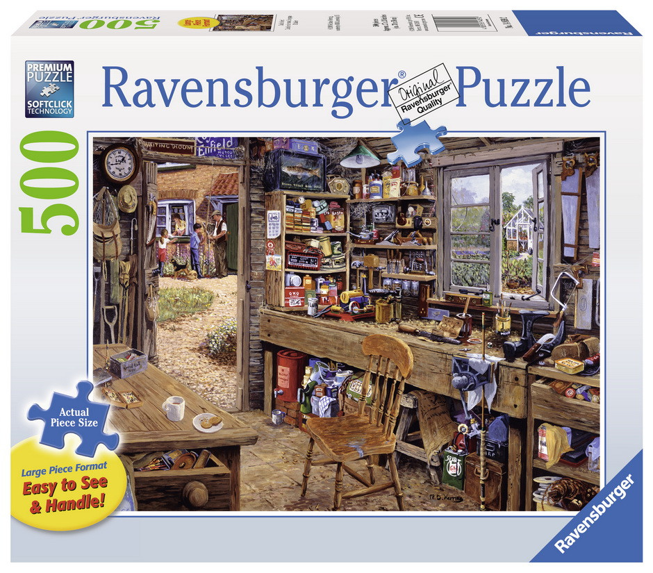 Ravensburger - Dads Shed Lge Format Puzzle 500pc