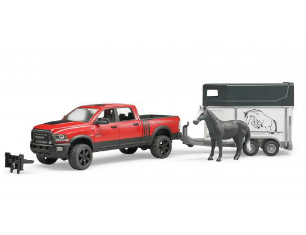 BRUDER 1:16 RAM 2500 Power Wagon With Horse Trailer